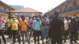 E/R: Dozens arrested for not wearing nose masks in Koforidua