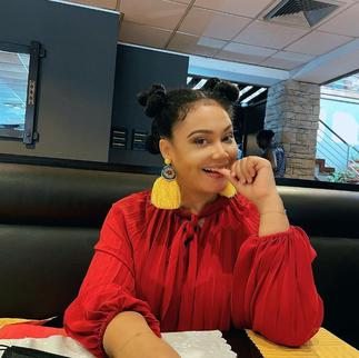 Pretty Nadia Buari Is A Whole Mood As She Slays In Red Getup Complemented with Yellow Earrings