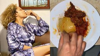 This an abomination; social media reacts to Nikki Samonas eating fufu with stew [ARTICLE]
