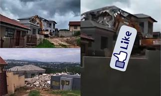 VIDEO: South African Man Demolishes House He Built For His Girlfriend After She Said He Was No Longer Her Class » GhBasecom™