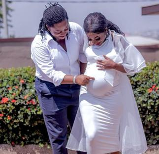 Ghanaian Lesbian Couple Flaunts Baby Bump