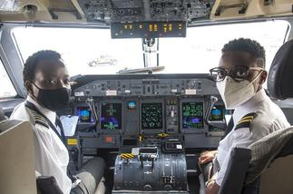 Meet Ghana's historic all-female flight crew