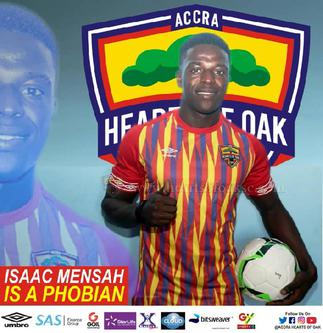 Mensah's solitary strike for Hearts sinks Liberty Professionals