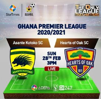 Expectations high as Kotoko and Hearts play in empty Accra Sports Stadium
