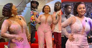 Nana Ama McBrown causes stir with revealing dress on United Showbiz, photos break the internet ▷ Ghana news