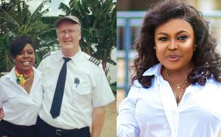 Afia Schwar Drops Unironed Dirty Shirt Photo With A White Man As Proof Of Being An Air Hostess