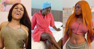 Yaa Jackson drops hot bedroom photo as she flaunts her fine legs, fans go gaga ▷ Ghana news