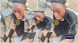 Player beats up female referee mercilessly in Ghana league game