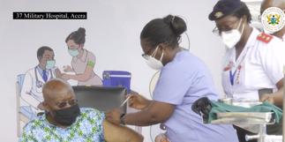 Akufo-Addo and wife take COVID-19 vaccine [Photos]