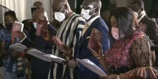 President Akufo-Addo swears in 28 new ministers