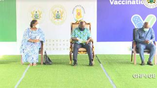 President Akufo Addo takes first COVID-19 vaccine