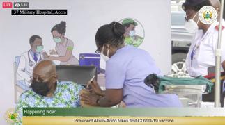 Akufo-Addo, Bawumia take first jab of Covid-19 vaccine