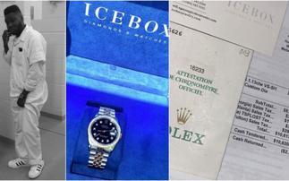 Showboy Flaunts $10,000 Rolex Watch With Receipt From Prison- PHOTOS