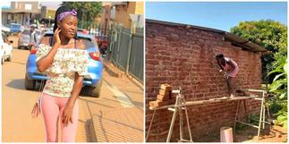 Lady builds & plasters own house; photos spark huge reactions on social media ▷ Ghana news
