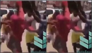 MOB JUSTICE: Nigerian Transgender Beaten By Angry Mob In Public