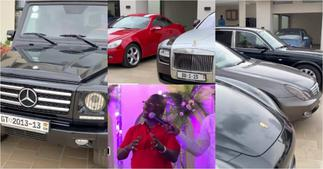 Double D: First video of Ghanaian millionaire's garage with luxurious cars pops up ▷ Ghana news