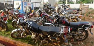 Sefwi Wiawso: Police seize 17 unlicensed motorbikes to curb crime