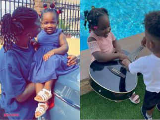 Stonebwoy's Daughter Jidula Continues 'Mpanyinsem' As She Flawlessly Plays Guitar and Sings