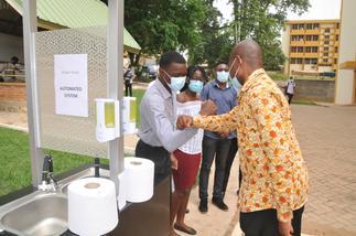 KNUST develops solar-powered automated handwashing station