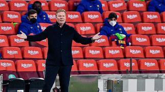 Barcelona coach Koeman hits out at critics before Copa del Rey final