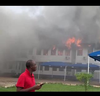 Video: Fire consumes Mampong Technical administration block