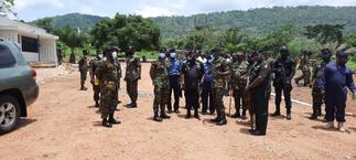 CDS tours Volta, interacts with troops