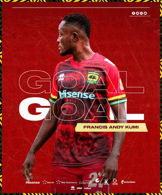 Fresh from DOL, Andy Kumi opens scoring account with Kotoko