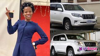 Ohemaa Woyeje receives brand new Toyota Prado from Dr Kwaku Oteng » GhBasecom™