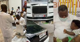 Dr Kwaku Oteng: Adonko Bitters Owner Celebrates Birthday With Wives And Children At All-White Party ▷ Ghana news