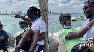 Heartwarming video of Jupitar cuddling Shatta Wale as a baby in his arms stuns netizens