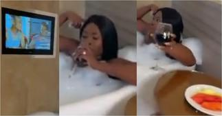 Fella Makafui proves that she's rich as she flaunts her lavish lifestyle in bathroom video ▷ Ghana news