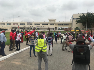 Tension at KIA as management plans to crash staff protest with National security