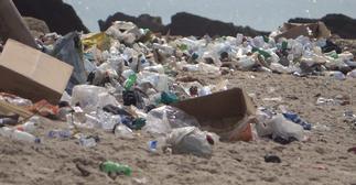 Plastic waste takes over Cape Coast beaches