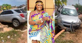 Just in: Abena Moet involved in serious accident; photos and video pop up ▷ Ghana news