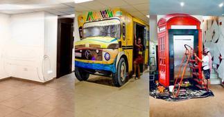 Creative Artist Who Transformed Elevator Into Cute Bus Lands Job With Pepsi & Mirinda ▷ Ghana news