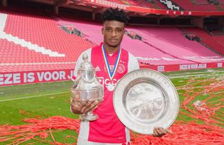 Mohammed Kudu reacts to winning Dutch double with Ajax