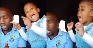 Little Girl Steals Hearts as She Sings Gospel Song Alongside Her Dad ▷ Ghana news