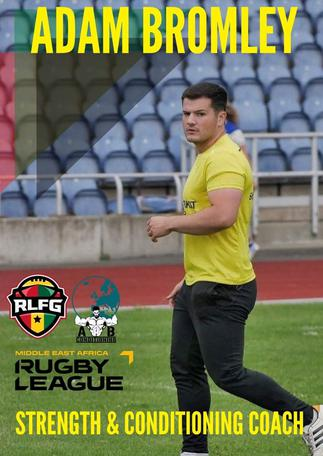 Coach Adam Bromley to offer support to Rugby League Federation Ghana