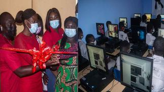 Vodafone Ghana Foundation climax 4-kindred projects with commissioning of a computer lab for Ofankor M/A 3 JHS