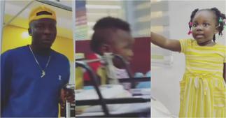 Stonebwoy's daughter Jidula boldly tells him as she gushes over little girl ▷ Ghana news