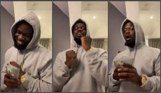 Sarkodie Flexes With Real Dollars While Dancing To Kuami Eugene's New Song