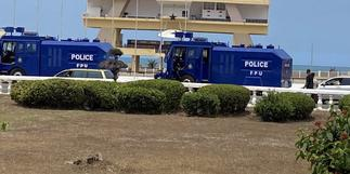 Police deployed to Black Star Square in anticipation of #FixTheCountry protest