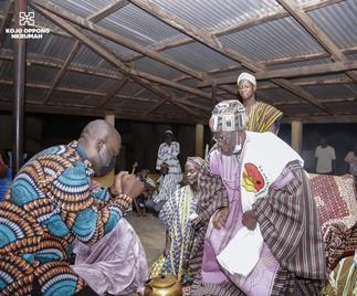 Tolon-Naa honors Oppong Nkrumah for service to country