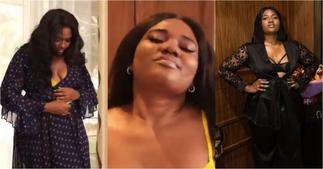 Abena Korkor drops bedroom video flaunting her figure in see-through wear to advocate body positivity ▷ Ghana news