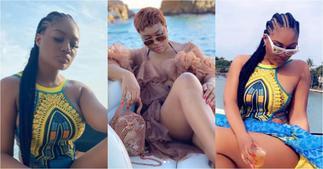 Sandra Ankobiah drops jaws as she flaunts her raw thighs in hot bikini photos ▷ Ghana news
