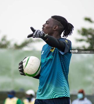 Asante Kotoko goalkeeper Razak Abalora celebrates clean sheet haul