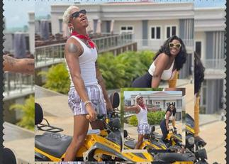 Kidi Takes Salma on Romantic Bike Ride After Camping her In Kwahu