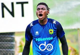 George Amoako reacts to Abalora's howler in Morocco defeat