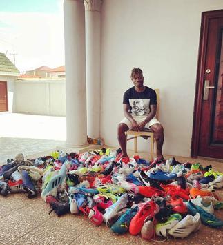 Christian Atsu donates football boots to former club Cheetah FC