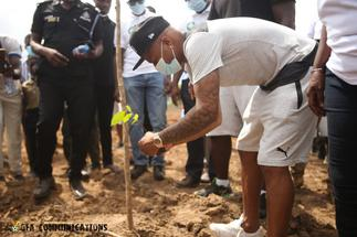Black Stars plant trees as part of maiden Green Ghana Day